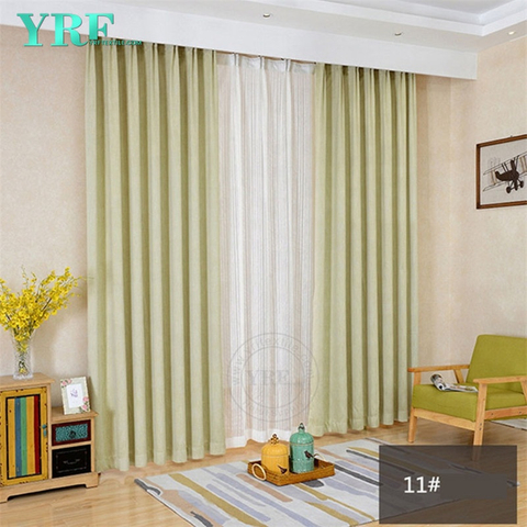 Hotel Plain Color Black Out Fire Retardant Room Window Drapes