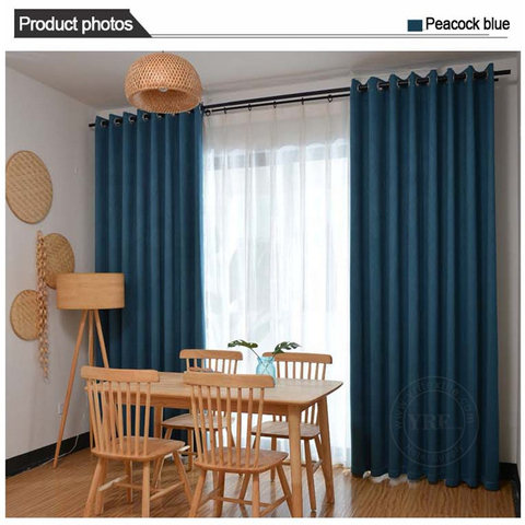 Dorm Solid Color Black Out Heavy Duty Insulated Room Window Curtains