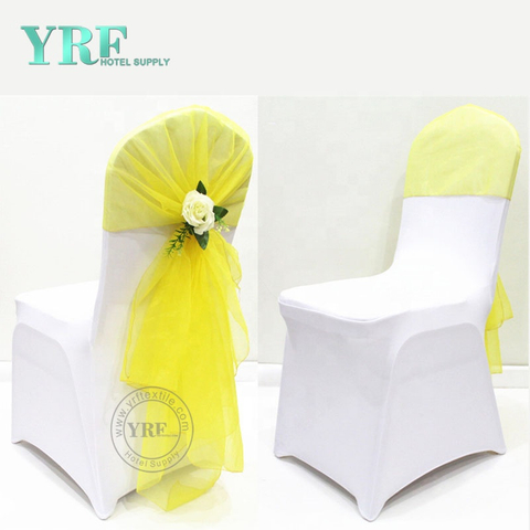 YRF Wholesale Wedding Decoration White Stretch Chair Covers