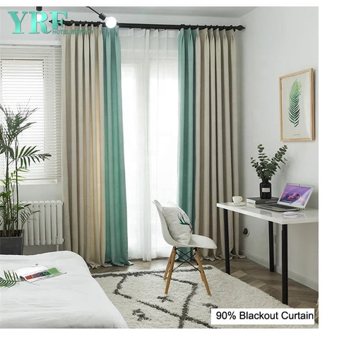 College Solid Color Blackout Flame Retardant Rooms Curtains
