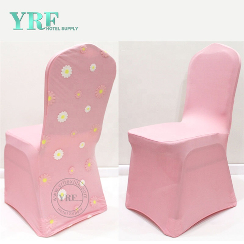 YRF Wedding Decoration Blush Pink Party Chair Cover