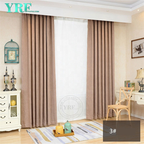 5 Star Hotel Plain Color Black Out Fire Retardant Commercial Drapes