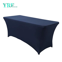 "Rectangular Stretch Spandex Table Cover Navy Blue 4ft/48""L x 24""W x 30""H Polyester For Party"