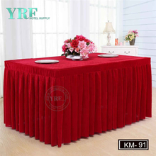 YRF Cheap Exquisite Decorative Wedding Square Pleated Table Skirt