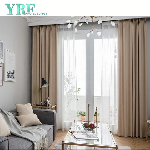 Star Hotel Solid Color Blackout Heavy Duty Insulated Rooms Window Curtains