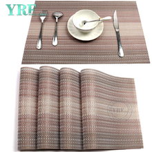 Christmas Oblong PVC Non-fading Non-stain Beige And Brown Table Mats
