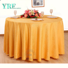 "YRF Luxury 5 Star Hotel jacquard 72"" Round Wedding Table Cloth"