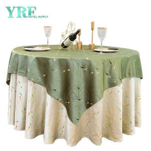 "YRF Table Cloth Hotel Party 120"" Cream 100% Polyester Round"