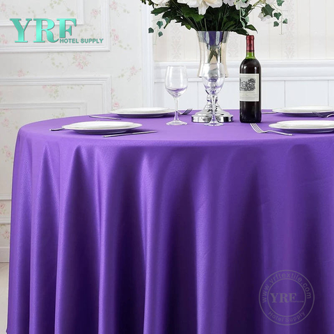 YRF Manufacturer Table Cloth Round Cheap 100% Polyester 5 Star Hotel