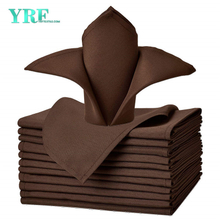 "Cloth Napkins Pure Chocolate 17x17"" Inch Pure 100% Polyester Washable and Reusable For Restaurant"