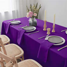 "Dinner Napkin Pure Purple 20x20"" Inch Pure Washable and Reusable For Hotel"