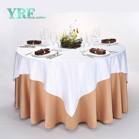 YRF China Factory Apartment Round Table Cloth Chocolate plain