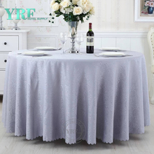 "YRF Cheap Hotel jacquard 132"" Round Party Table Cover"