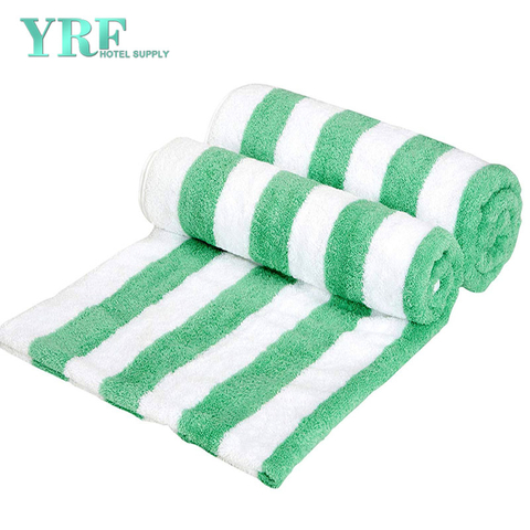 China Suppliers Cotton Luxury Hotel & Striped SPA Green Beach Towels