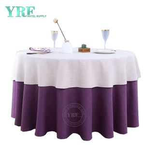 YRF Table Cover 5 Star Hotel Birthday 8ft linen Polyester Round