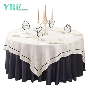 "YRF Table Cover Hotel Birthday 90"" Navy Blue Polyester Round"