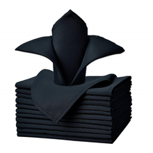 "Dinner Napkin Navy Blue 17x17"" Inch Pure 100% Polyester Washable and Reusable For Parties"