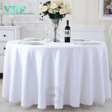 "YRF Discount Hotel jacquard 84"" Round Party Table Cloth"