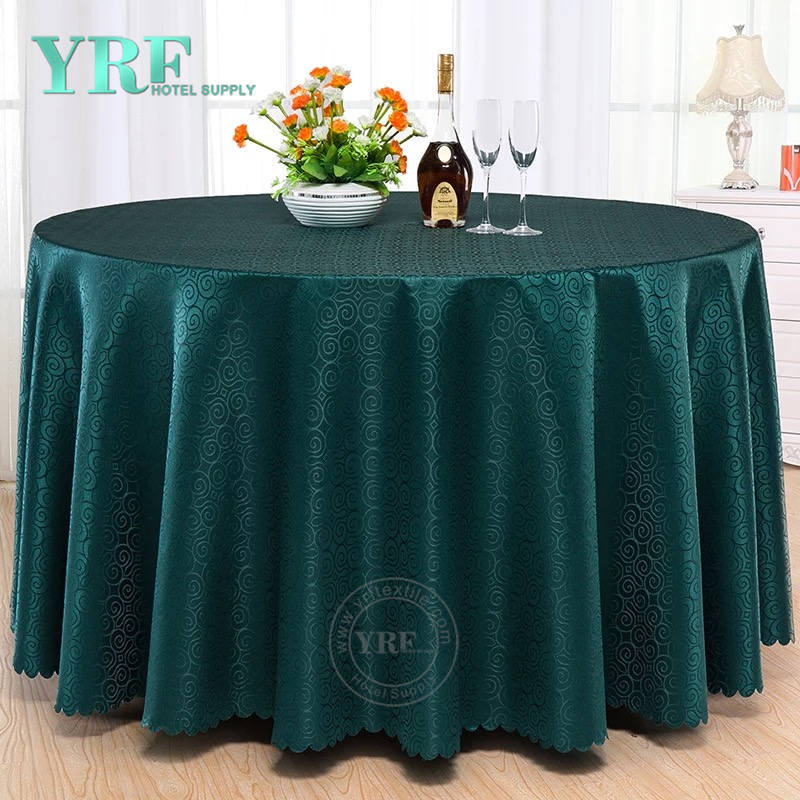 YRF Table Cloth 5 Star Hotel Birthday 6ft Jacquard Polyester Round