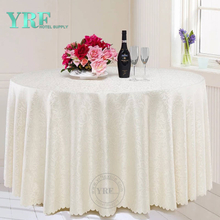 "YRF Table Cover 5 Star Hotel Wedding 90"" jacquard Polyester Round"