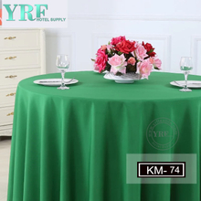 "YRF Table Cover 5 Star Hotel Party 132"" Solid Color 100% Polyester Round"