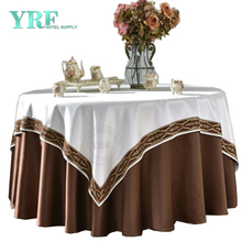 "YRF Table cloth Hotel Banquet 90"" Coffee 100% Polyester Round"