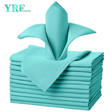 "Cloth Napkins Pure Turquoise 17x17"" Inch Pure 100% Polyester Washable and Reusable For Weddings"