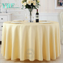 YRF Luxury 5 Star Hotel jacquard 4ft Round Wedding Table Cover