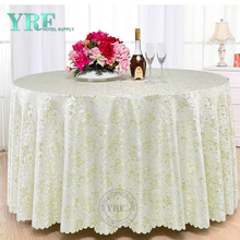 YRF Cheap 5 Star Hotel Jacquard Light Green 100% Polyester Cloth Green Wedding