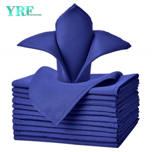 "Cloth Napkins Royal Blue 17x17"" Inch Pure 100% Polyester Washable and Reusable For Restaurant"