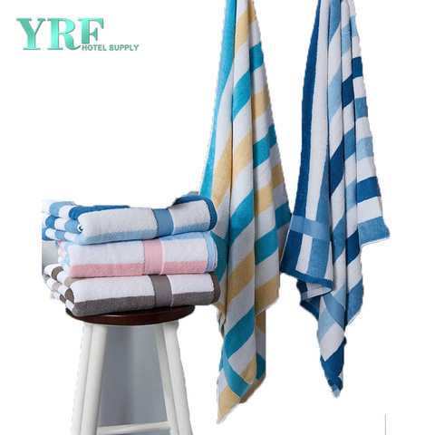 Wholesale Cotton-Dyed Jacquard Thickening Increase Beach Blue And White Towel