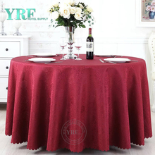 "YRF Luxury Hotel jacquard 108"" Rounde Party Table Cloth"