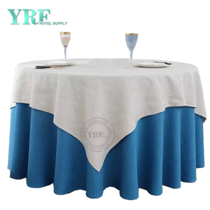 "YRF Table Cover 5 Star Hotel Wedding 90"" linen Polyester Round"