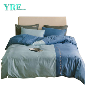Bed Linen 3 Piece Single Bed Polyester Solid Color For Motel