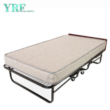 Dorm Folding Bed Spare on Wheels Foam Mattress Super Strong Frame Twin Size