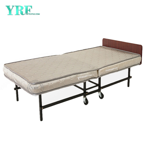 Hotel Folding Bed Spare Portable Foam Mattress on Wheels Single Bed