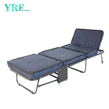 Dorm Spare Rollaway Folding Bed with Thick Foam Mattress on Wheels Single Bed