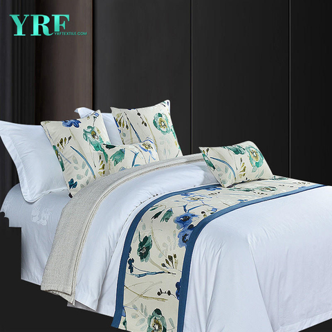 Apartment Fashionable King Size Plant Flowers Cadet Blue Printing Bed Flags