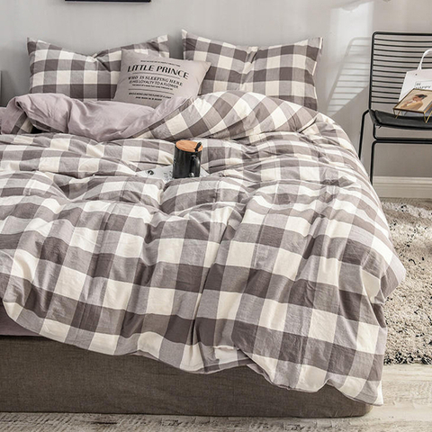 High Quality Home Bedding Plaid Hot Selling Cotton Bed Sheet