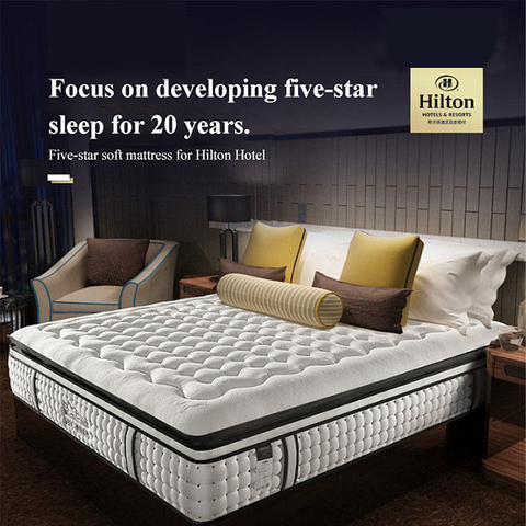 Hilton Hotel Bedroom Breathable Mattress Spring Latex For Single Bed