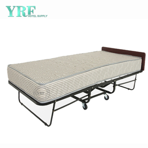 Apartment Spare Lightweight Folding Bed Rollaway on Wheels Twin