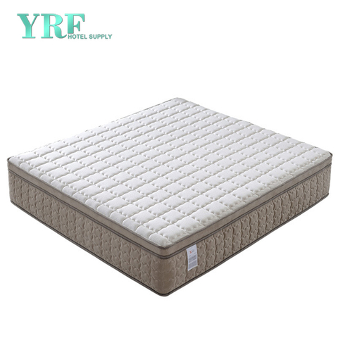 King Luxury Hotel Bedroom Mattress Latex Layer Motion Isolating Springs Plush
