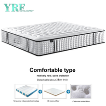 14 Inch Luxurious Hotel Apartment Mattress Coconut Fiber Innerspring Relatively Hard